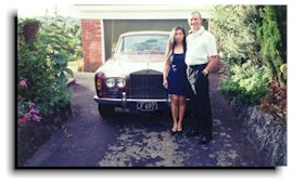 Going out in style in a Rolls Royce