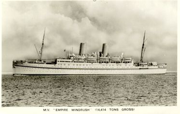 M.V. Empire Windrush (14414 tons gross)